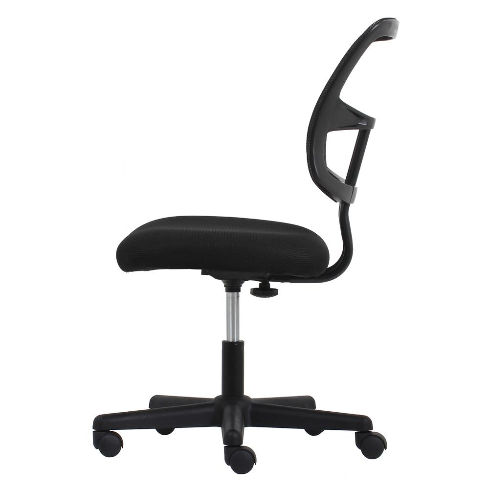 Essentials by OFM ESS-3020 Swivel Mesh Back Armless Task Chair, Black. Picture 5