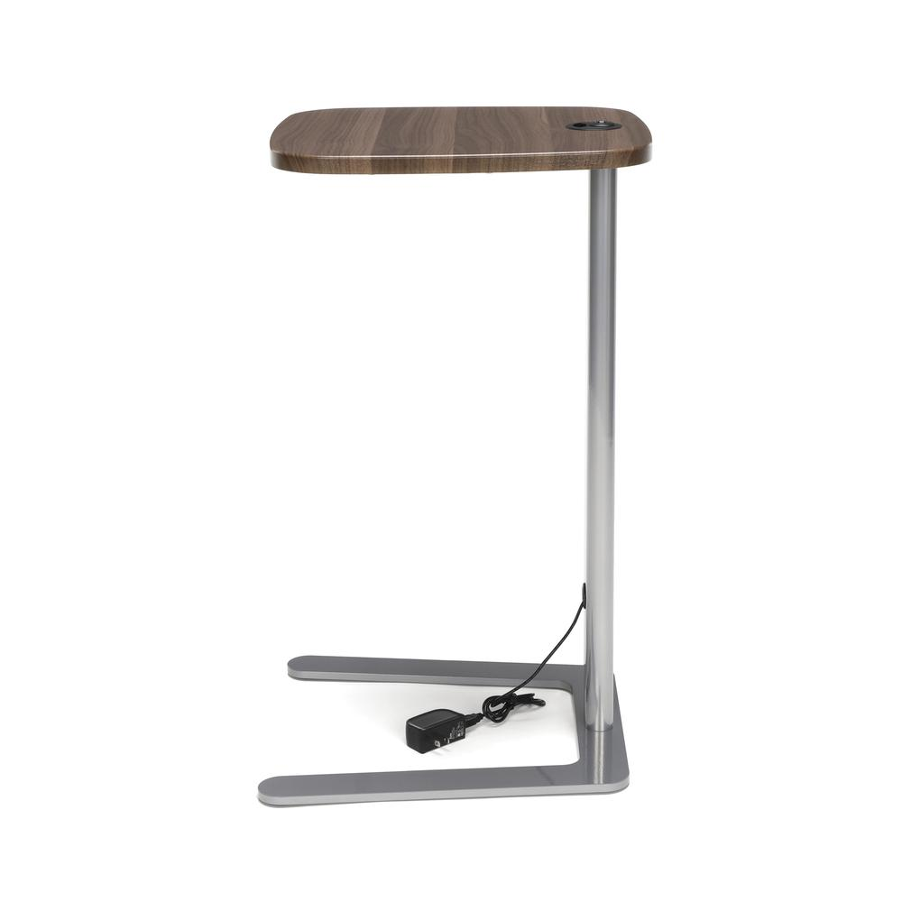OFM Model ACCTAB Accent Table with USB Grommet, Walnut. Picture 5