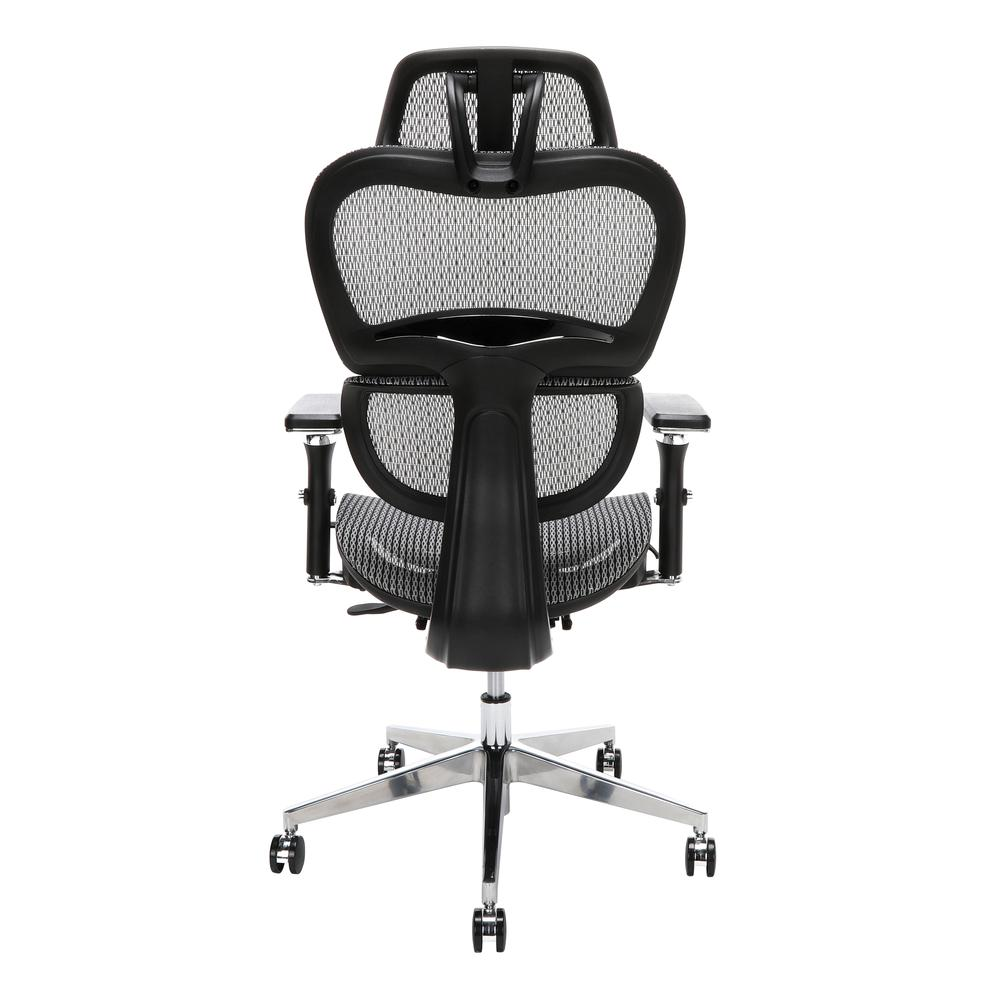 OFM Core Collection Ergo Office Chair featuring Mesh Back and Seat with Head Rest, in Gray (540-GRY). Picture 3