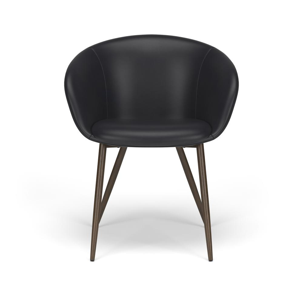 HON Basyx Monroe Bonded Leather Upholstered Guest Chair, in Black (BSX301SB11MW). Picture 2