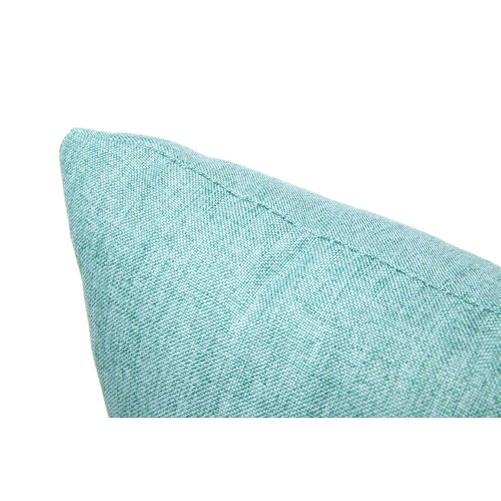 161 Collection Mid Century Modern 2-Pack 18 x 18 Accent Pillows, Teal. Picture 7