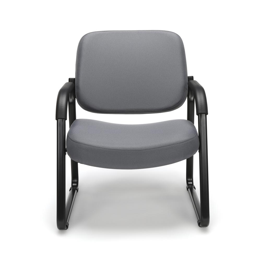 OFM Model 407 Fabric Big and Tall Guest and Reception Chair with Arms, Gray. Picture 2