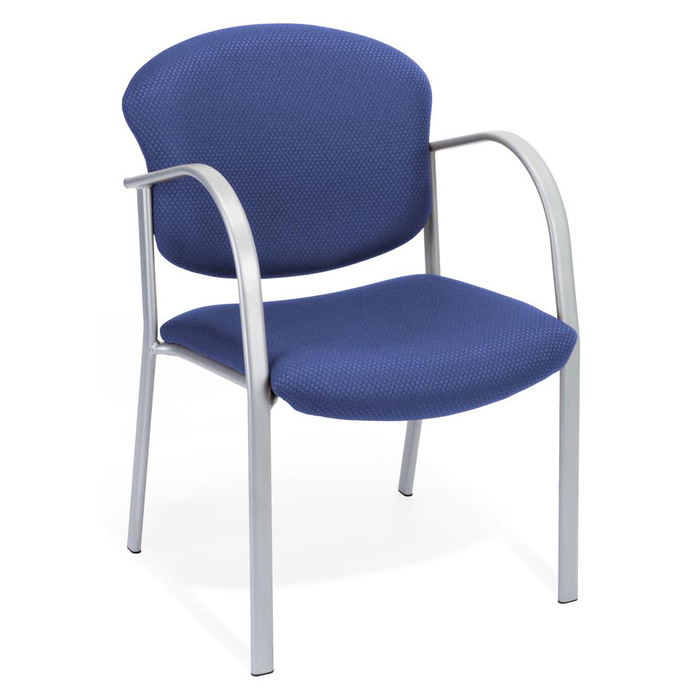 OFM Danbelle Series Model 414 Fabric Contract Reception Chair, Ocean Blue. Picture 1