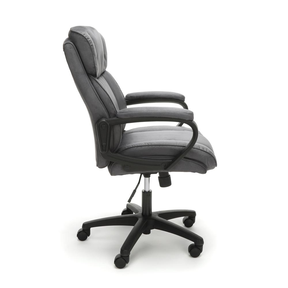 Essentials by OFM ESS-3082 Plush Microfiber Office Chair, Gray