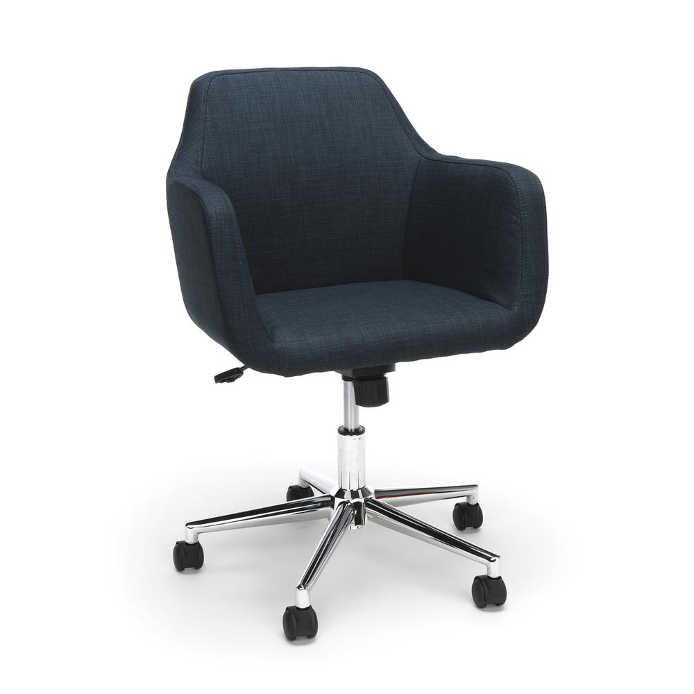 Essentials by OFM ESS-2085 Upholstered Home Office Desk Chair, Blue. Picture 1