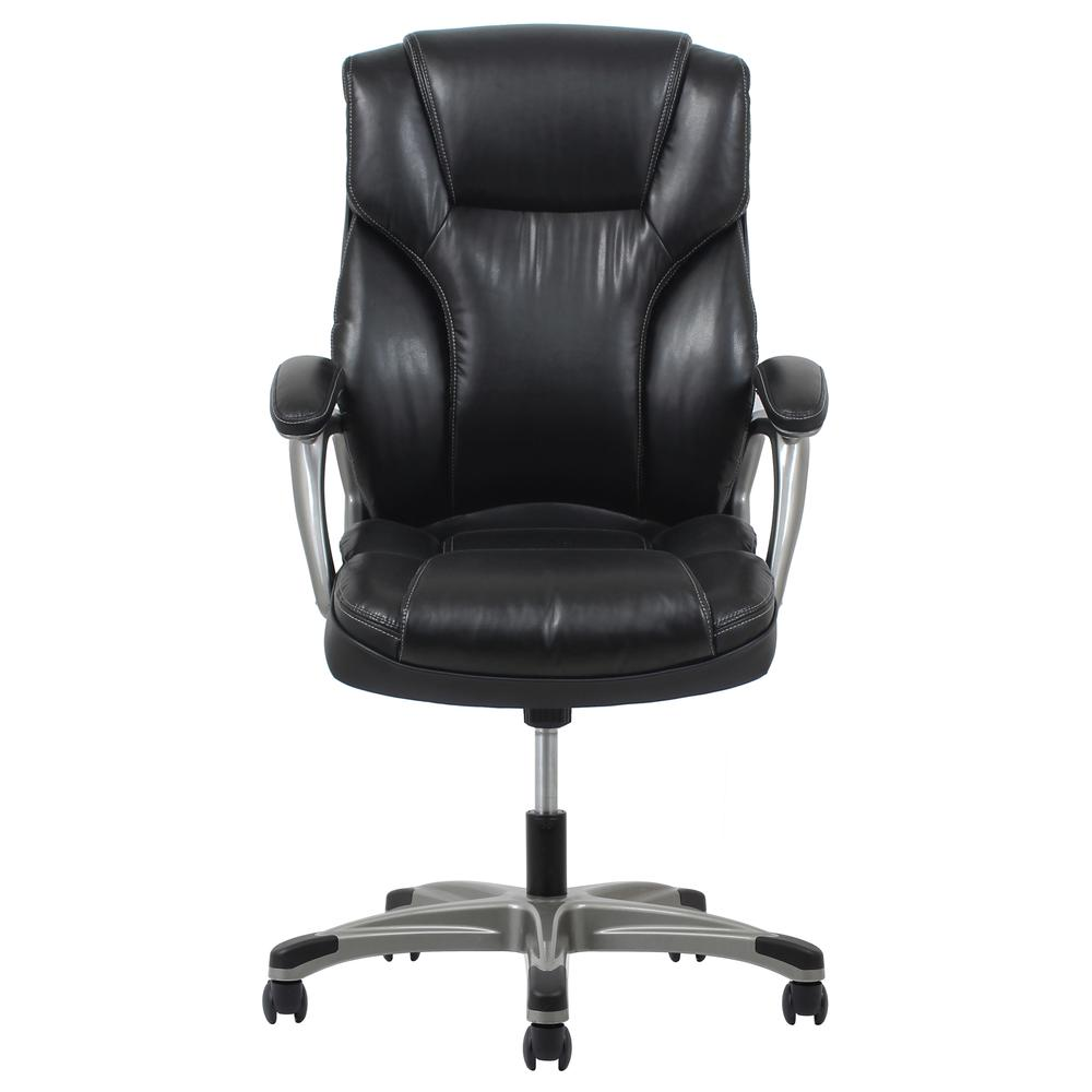 OFM ESS-6030 High-Back Bonded Leather Chair with Fixed Arms. Picture 2