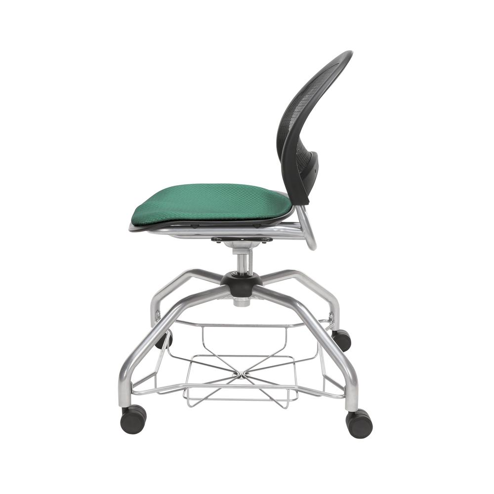 OFM Moon Foresee Series Chair with Removable Fabric Seat Cushion - Student Chair, Shamrock Green (339). Picture 5