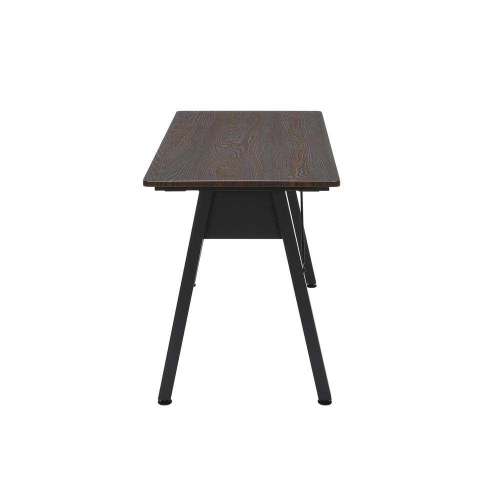 "OFM Essentials Collection 48"" Table Desk, in Wenge Woodgrain (ESS-1050-BLK-WEN). Picture 5"