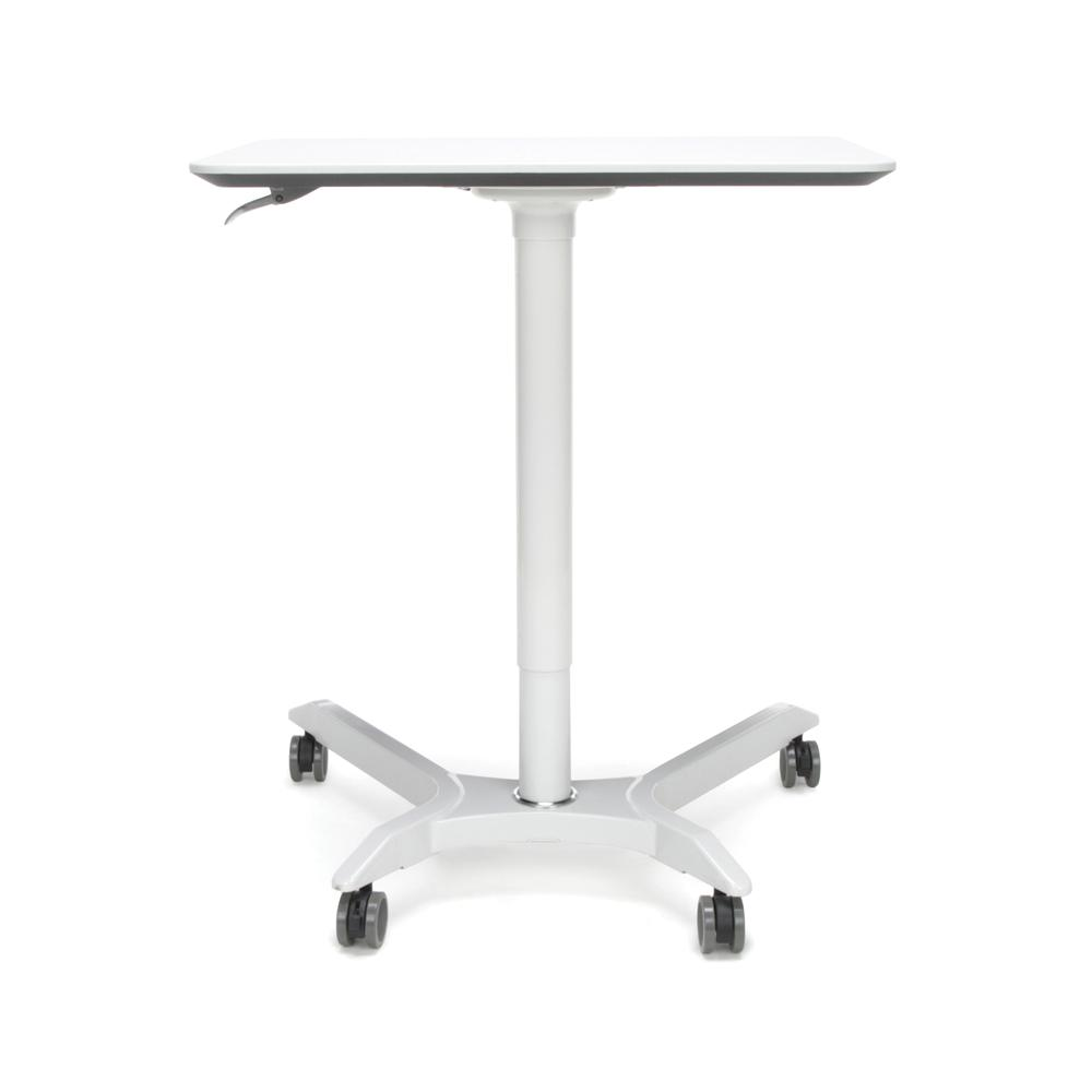 OFM Mesa Series Model 66100 Height Adjustable Mobile Podium, White. Picture 3