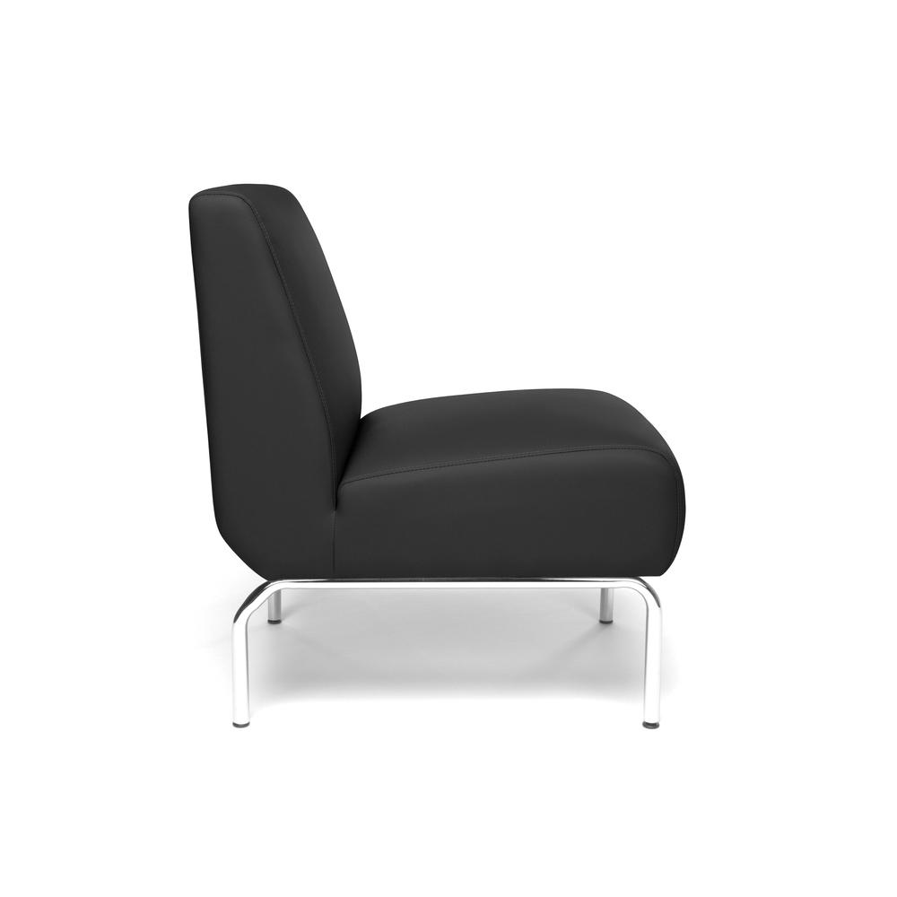 OFM Triumph Series Armless Modular Lounge Chair, in Black (3000-PU606). Picture 4