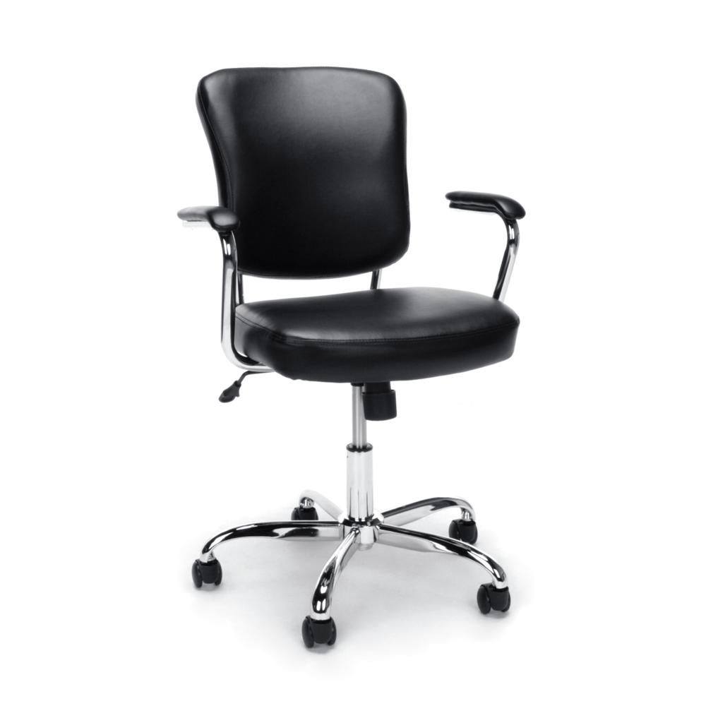 Ofm Ess 6080 Swivel Mid Back Bonded Leather Task Chair
