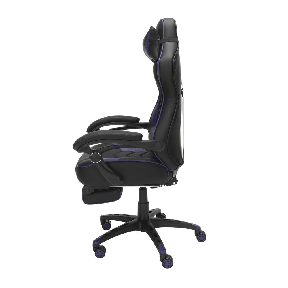 RESPAWN 110 Racing Style Gaming Chair with Footrest, in Purple. Picture 5