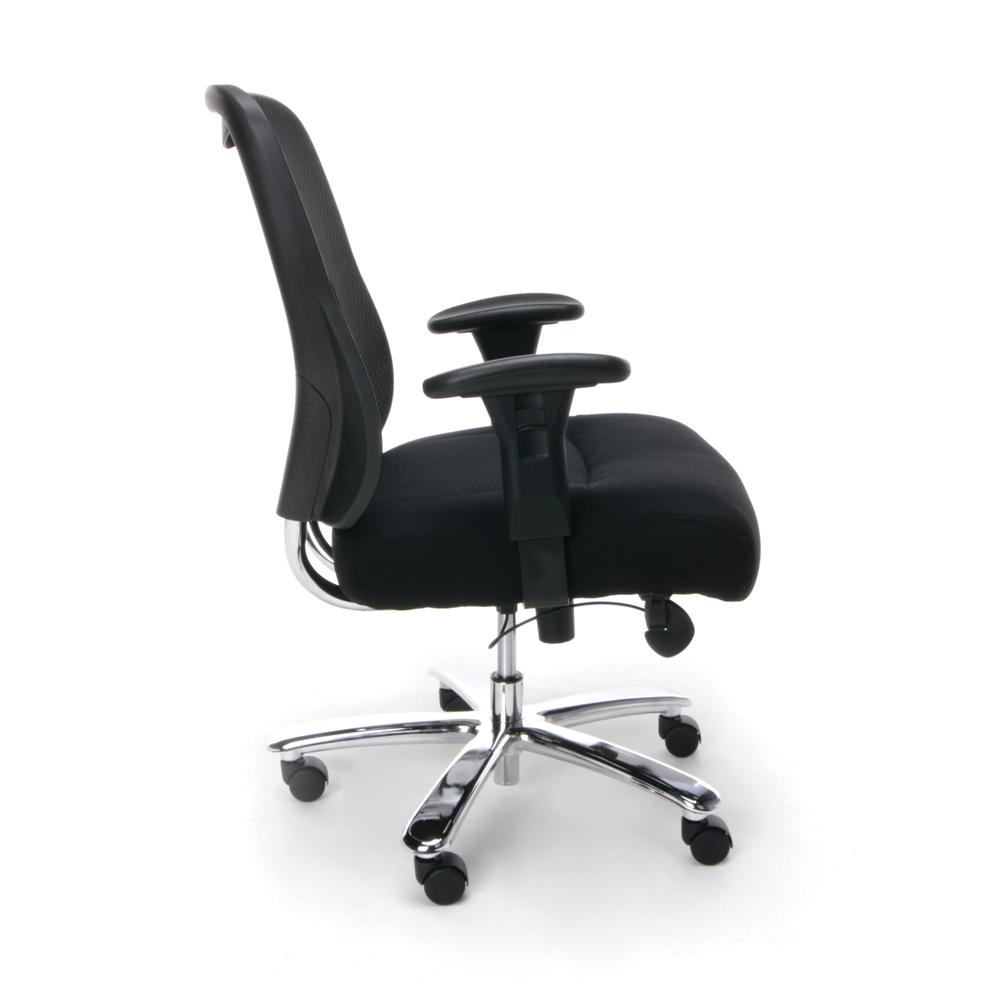 OFM ESS-200 Big and Tall Swivel Mesh Office Chair with Arms/Chrome. Picture 4