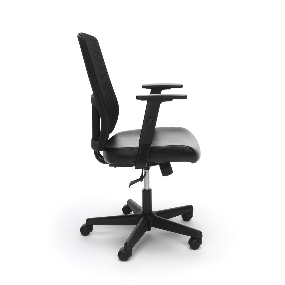 OFM ESS-3048 Mesh Back Chair with Bonded Leather Seat. Picture 4