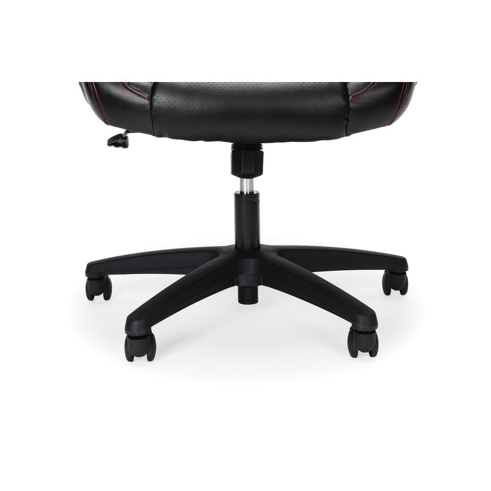 Essentials Collection Racing Style SofThread Leather High Back Office Chair, in Red