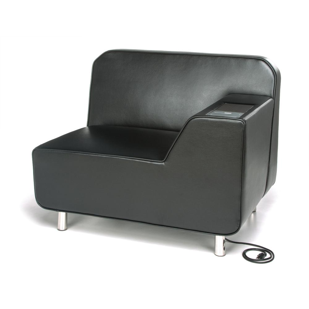 OFM Model 5000LE Modular Left Arm Lounge Chair with Tungsten Table. Picture 1