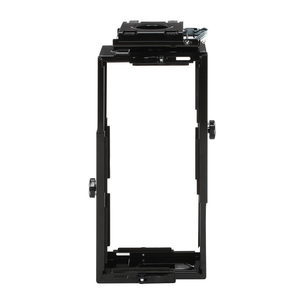 OFM Essentials Collection Adjustable Under Desk and Wall Mount Computer CPU Holder, in Black (ESS-8900-BLK). Picture 2