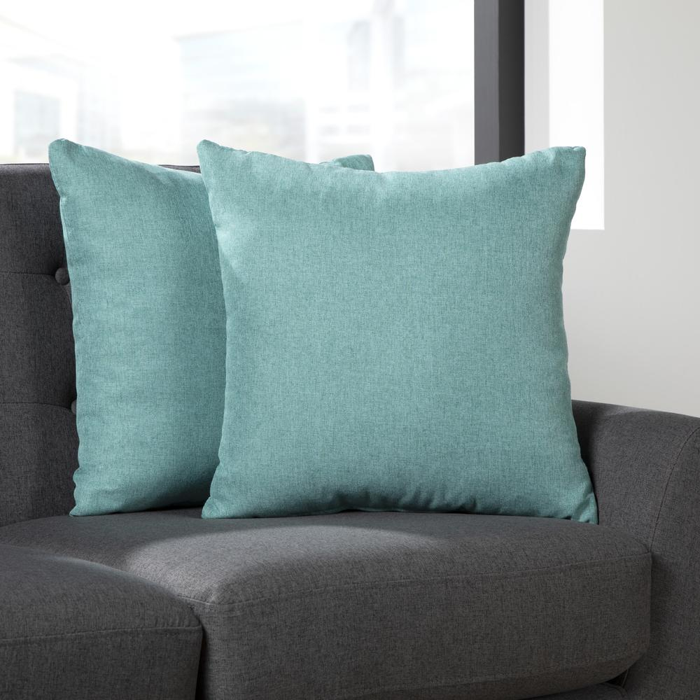 161 Collection Mid Century Modern 2-Pack 18 x 18 Accent Pillows, Teal. Picture 11