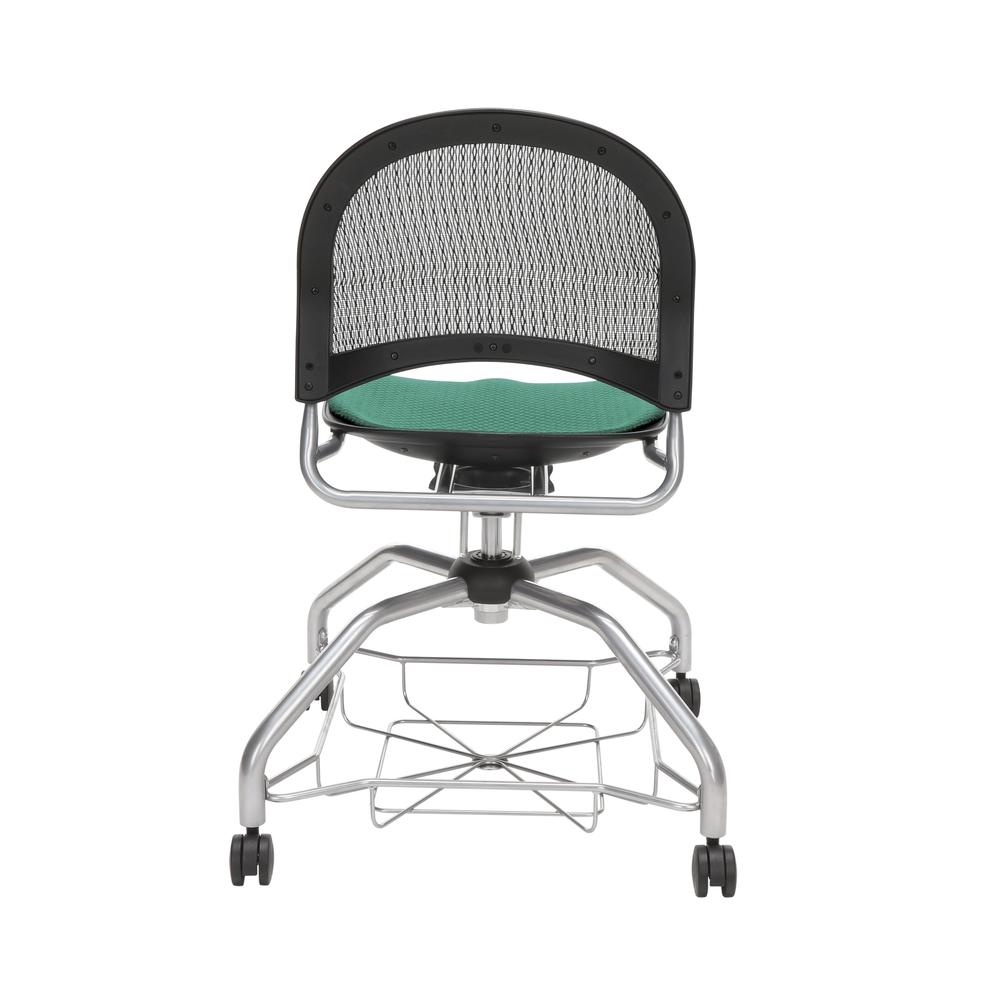 OFM Moon Foresee Series Chair with Removable Fabric Seat Cushion - Student Chair, Shamrock Green (339). Picture 3