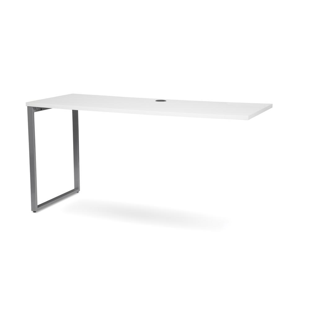 OFM Fulcrum Series 60x24 Credenza Desk, Desk Shell for Office, White (CL-C6024-WHT). Picture 6