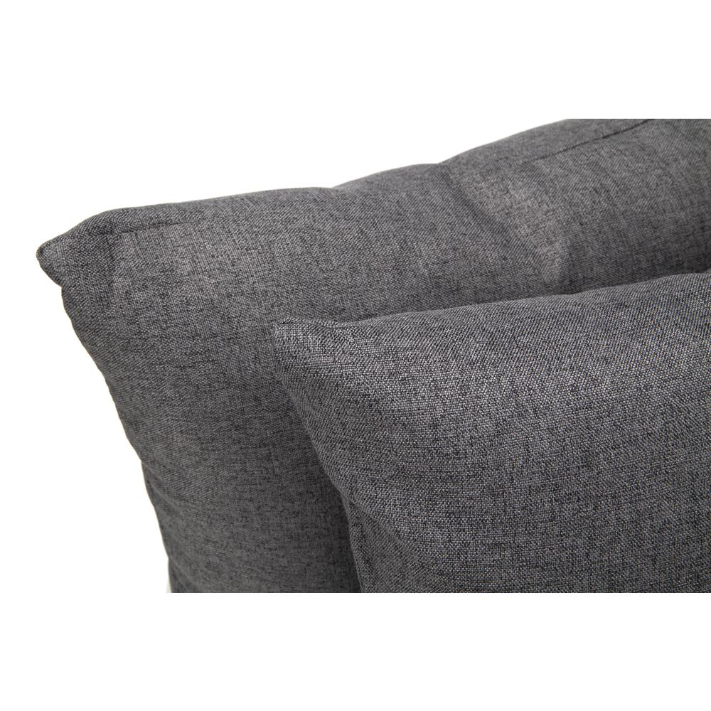 161 Collection Mid Century Modern 2-Pack 18 x 18 Accent Pillows, Dark Gray. Picture 6
