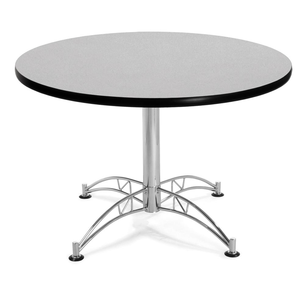 Multi-Purpose Table with Chrome-Plated Steel Base, Gray Nebula