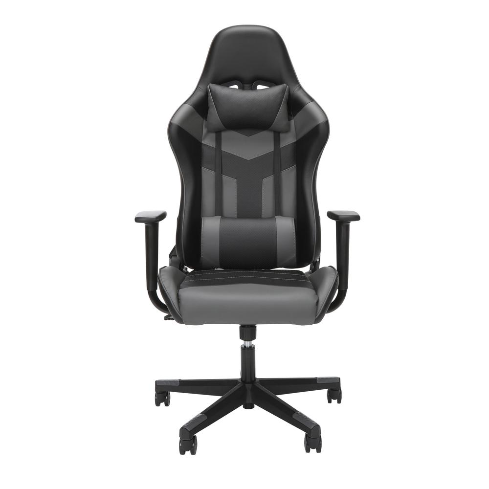 Essentials Collection High Back PU Leather Gaming Chair, in Grey (ESS-6075-GRY). Picture 2