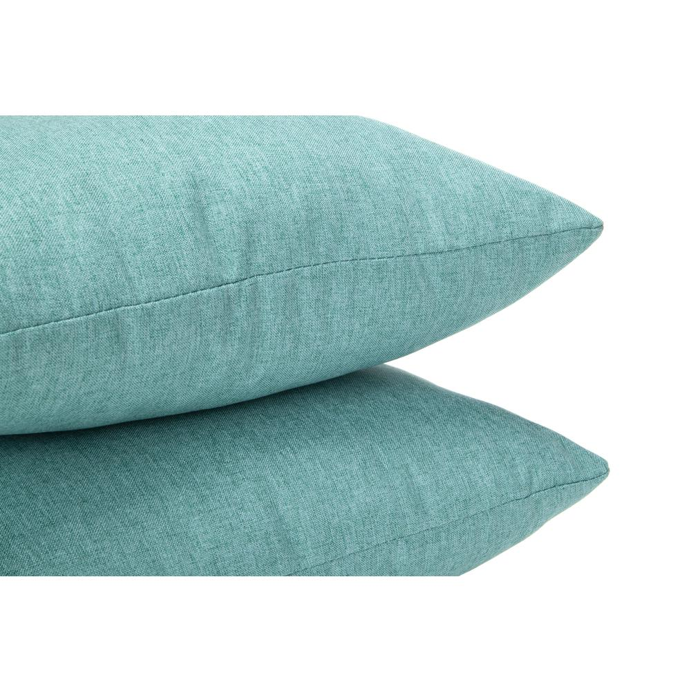 161 Collection Mid Century Modern 2-Pack 18 x 18 Accent Pillows, Teal. Picture 6