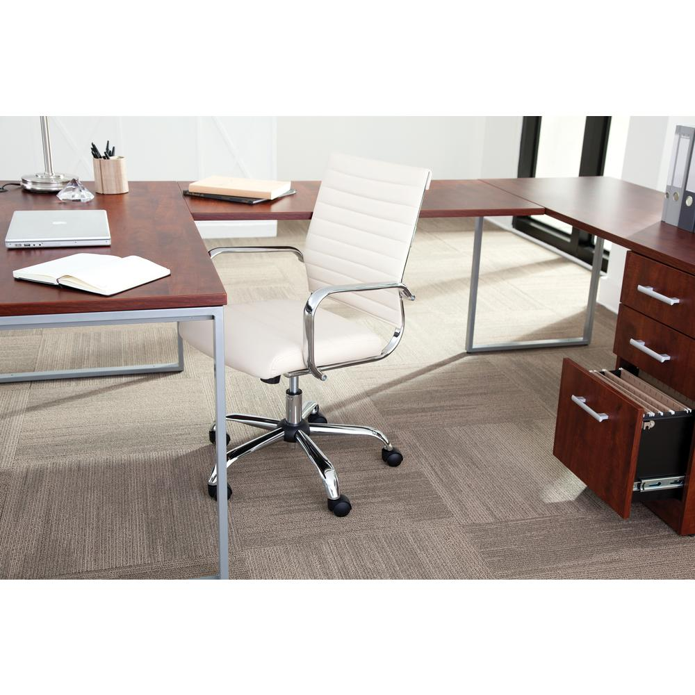 OFM ESS-6095 Soft Ribbed Bonded Leather Conference Chair, Ivory. Picture 6