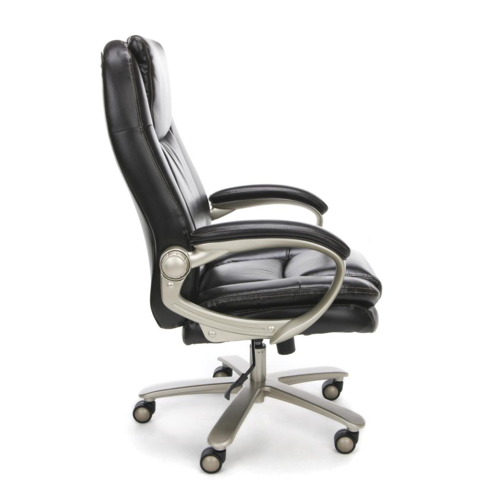 OFM ESS-201 Big and Tall Leather Office Chair with Arms, Brown/Bronze. Picture 4