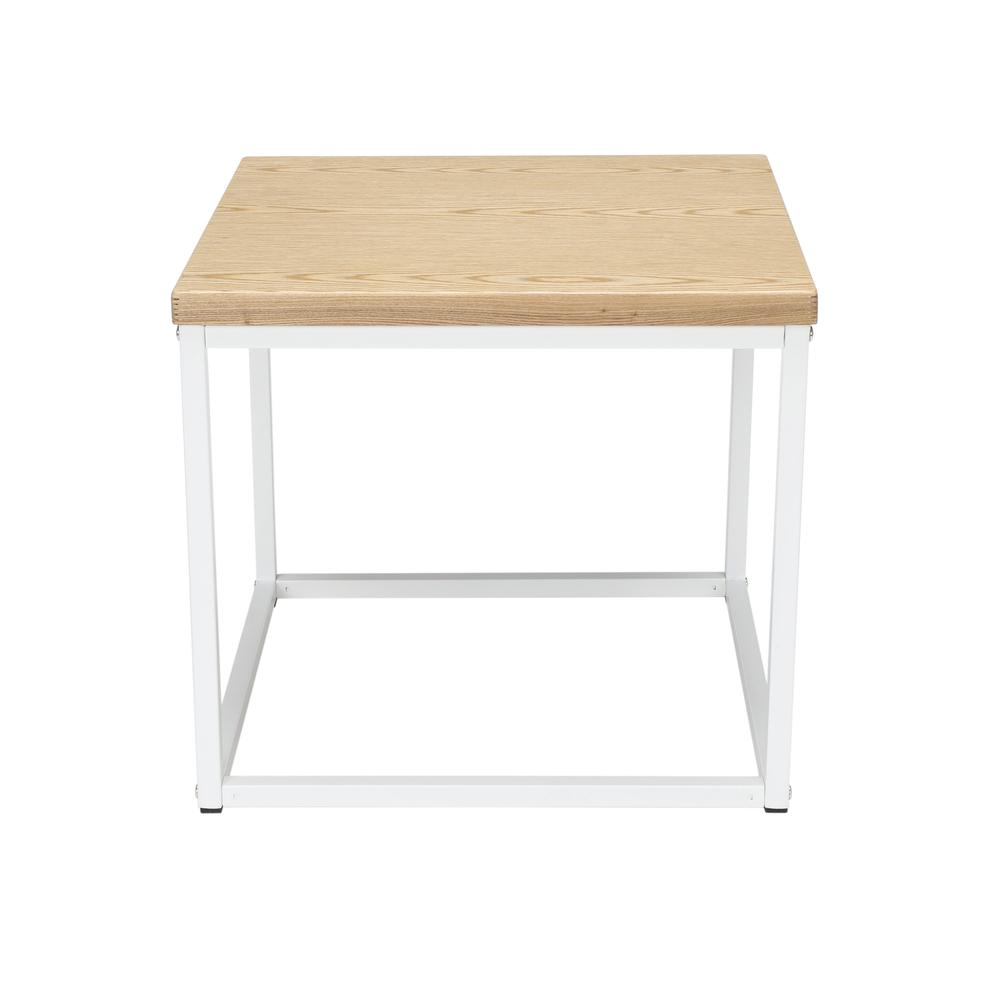 The OFM 161 Collection Industrial Modern Wood Top/Metal Frame Side Table is classically industrial but can tie together pieces from any decor style because of its understated simplicity.. Picture 2