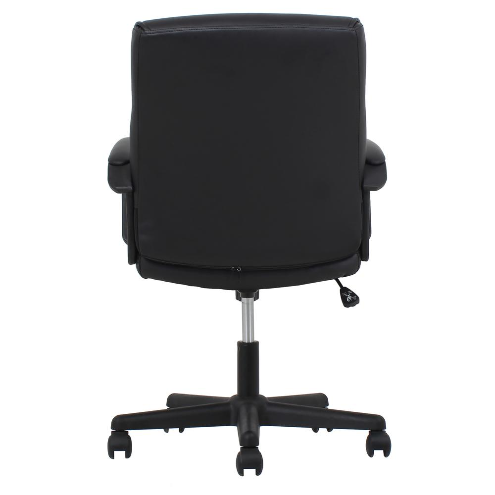 Essentials by OFM ESS-6010 Bonded Leather Executive Chair with Arms, Black. Picture 3
