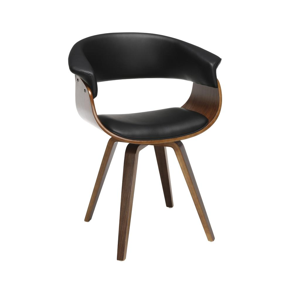 The OFM 161 Collection Mid Century Modern Bentwood Frame Dining Chair with Flare Arms, Vinyl Back and Seat Cushion, in Black, bring a touch of mid century to any room or dining set. These dining chair. Picture 1