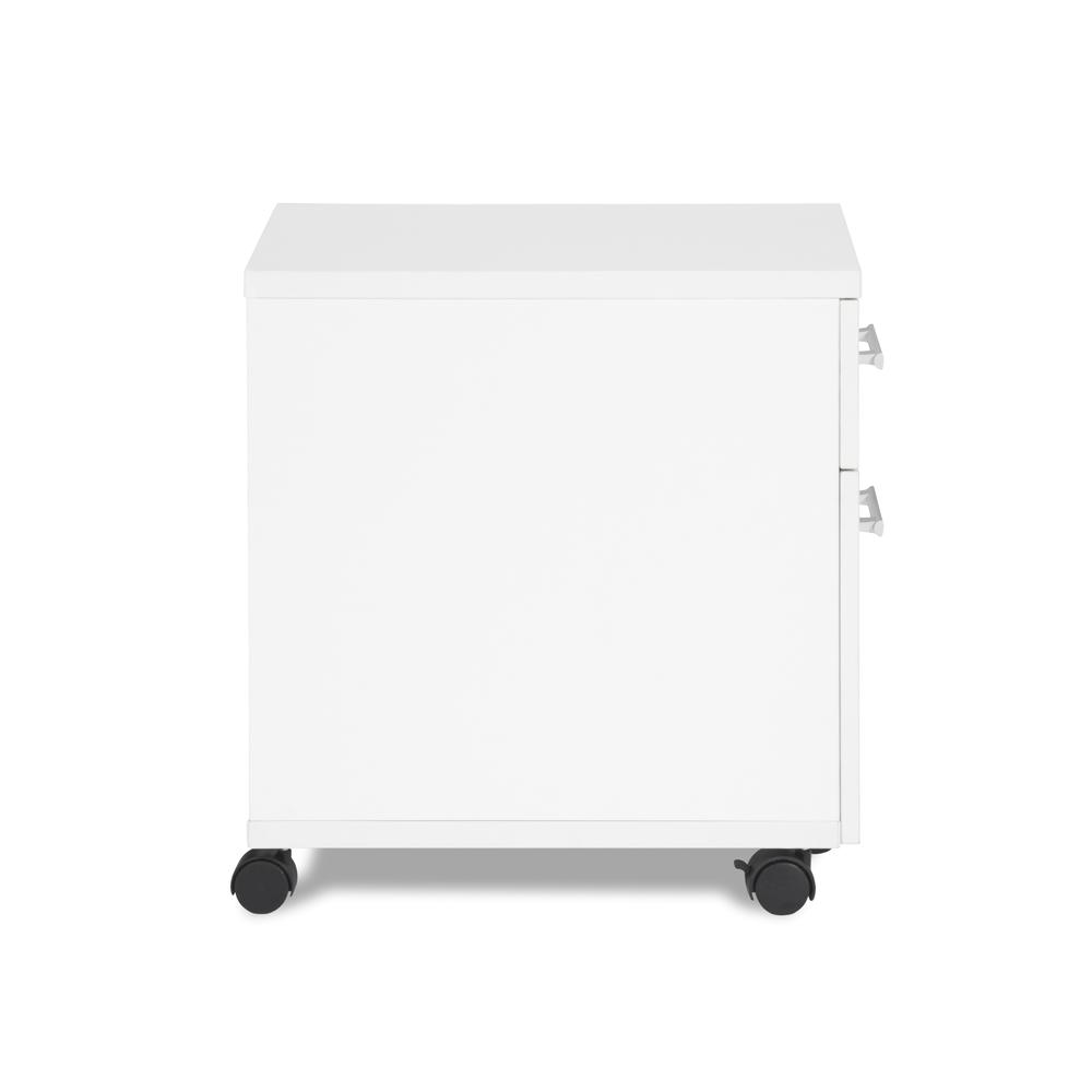 OFM Fulcrum Series Locking Pedestal, Mobile 2-Drawer Filing Cabinet, White (CL-MBF-WHT). Picture 4