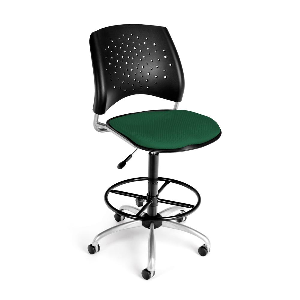OFM Model 326-DK Armless Fabric Swivel Task Chair , Kit, Green. Picture 1