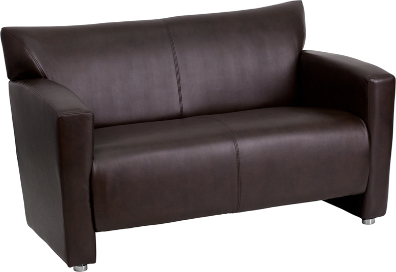 hercules majesty series brown leather loveseat. Black Bedroom Furniture Sets. Home Design Ideas