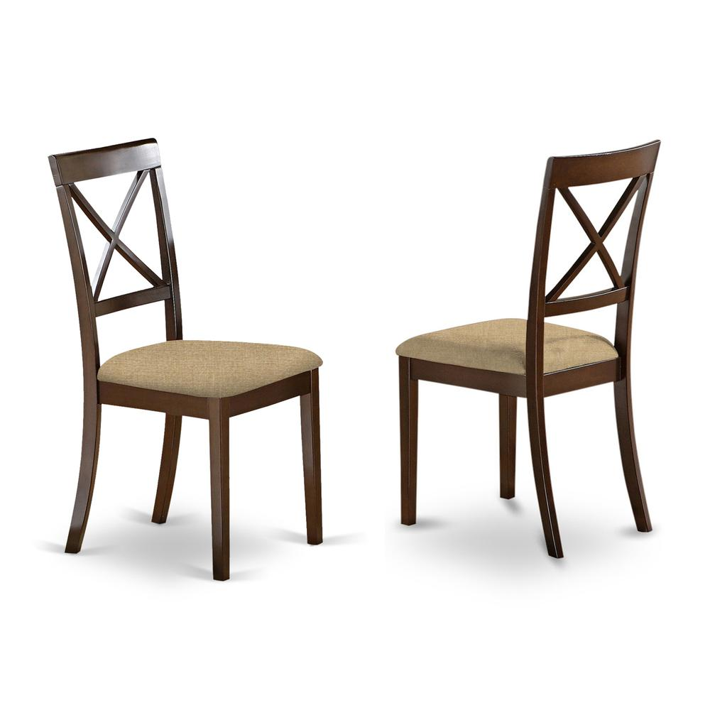 LYBO7-CAP-C 7 PC Dining room set-Kitchen Tables with Leaf Plus 6 Chairs for Dining room. Picture 3
