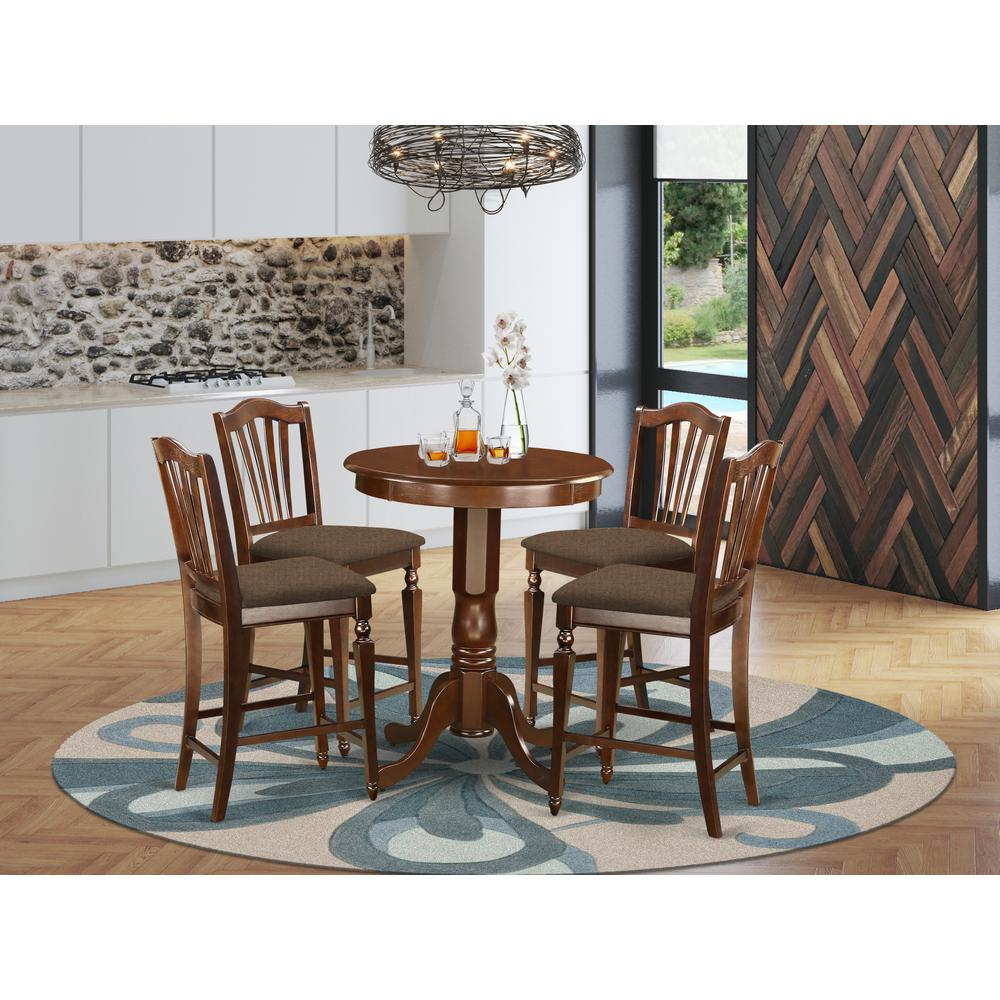 EDCH5-MAH-C 5 PC counter height set - high Table and 4 Dining Chairs.. Picture 2