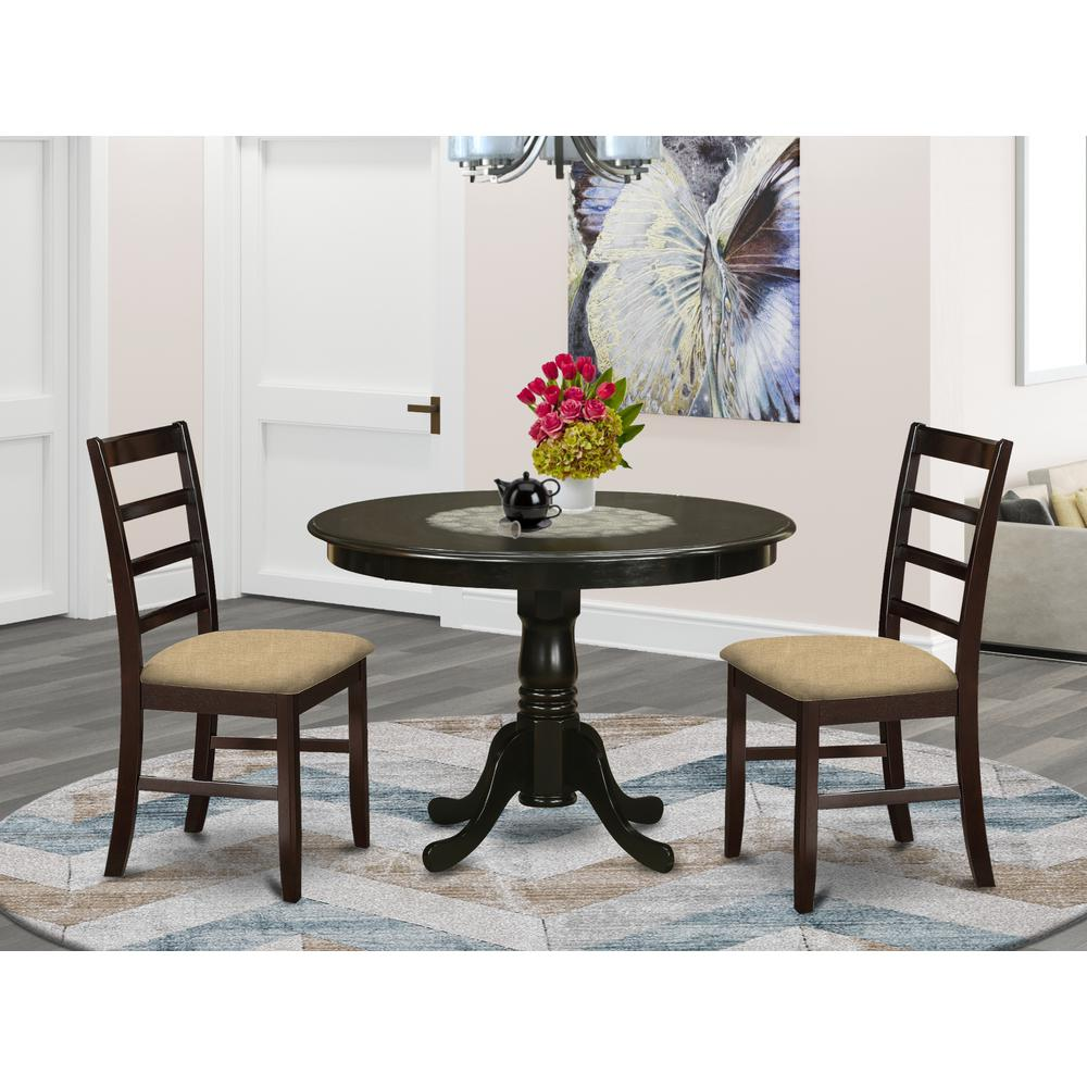HLPF3-CAP-C 3 Pc small Kitchen Table set-Dining Table and 2 Dinette Chairs.. Picture 2