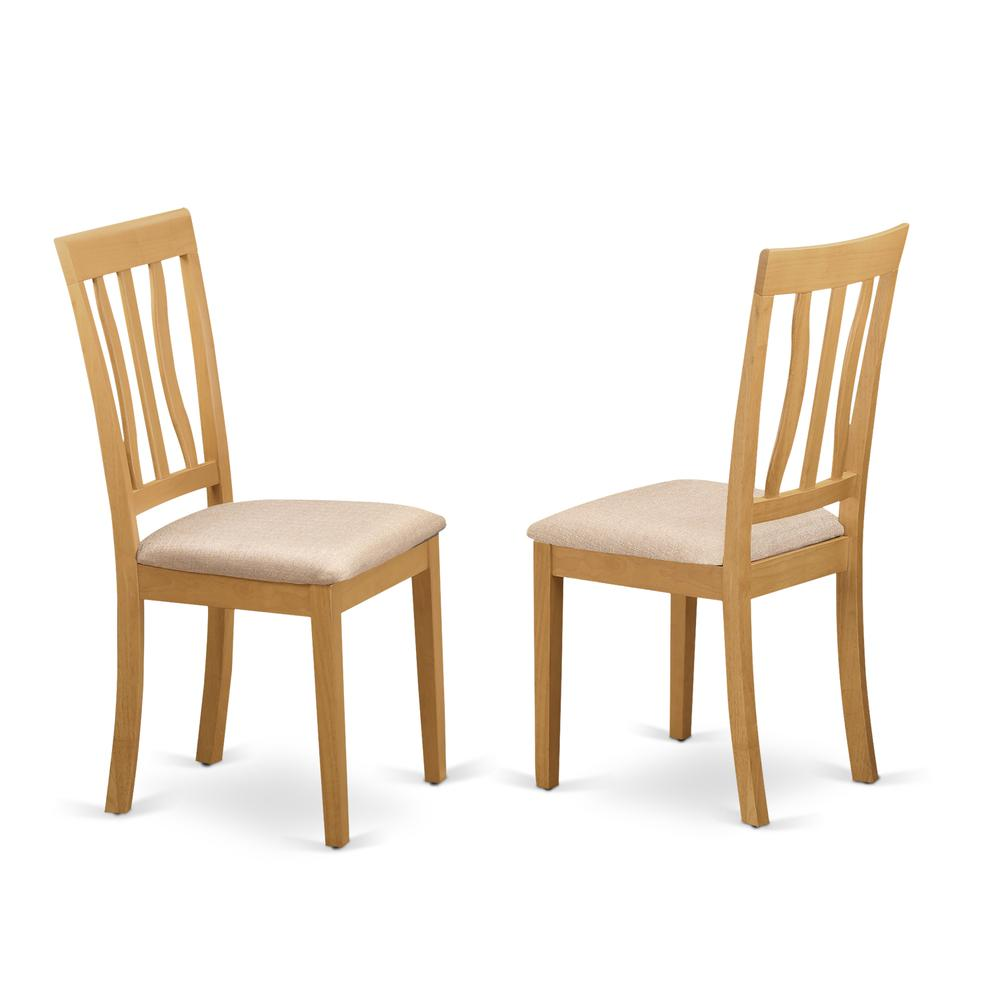 CAAN5C-OAK-C 5 Pc Dining room set for 4 - Table and 2 Dining Chairs plus 2 benches. Picture 4