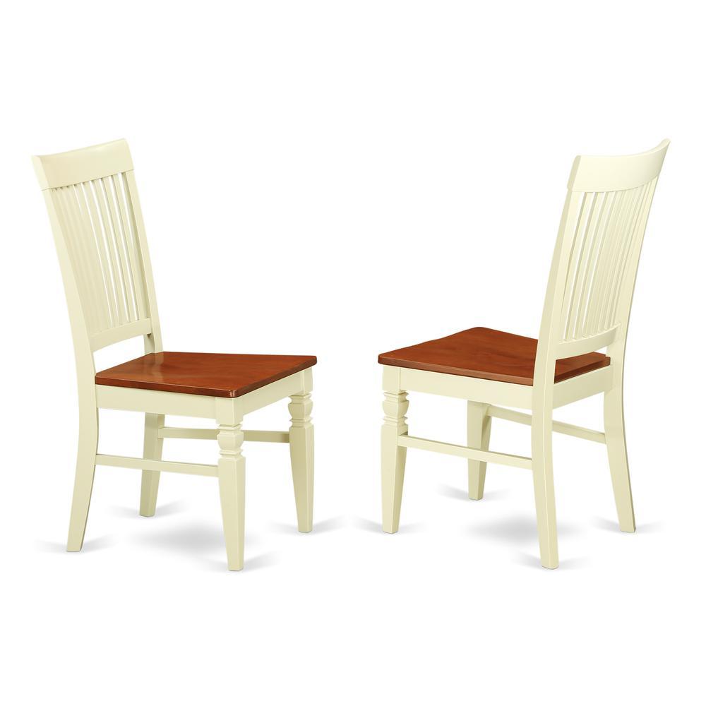 Dining Chair Buttermilk & Cherry, WEC-BMK-W. Picture 1