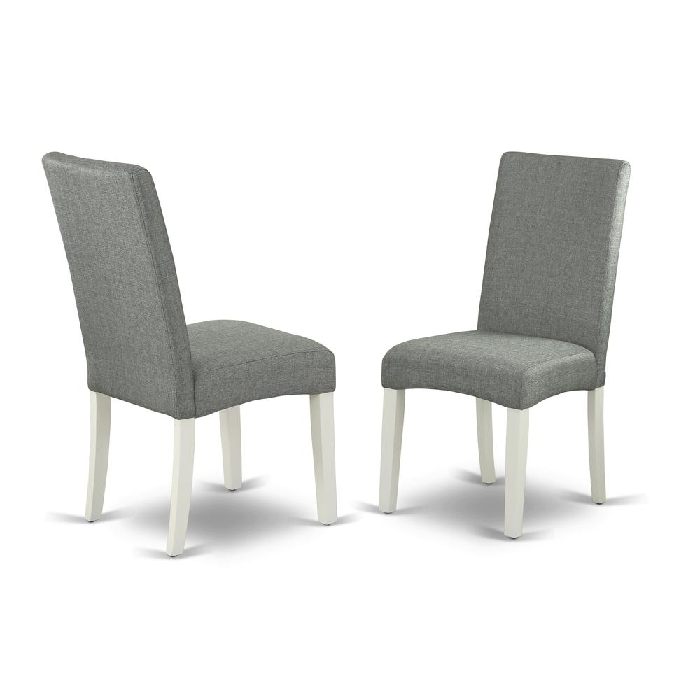 Dining Chair Linen White, DRP2T07. Picture 1
