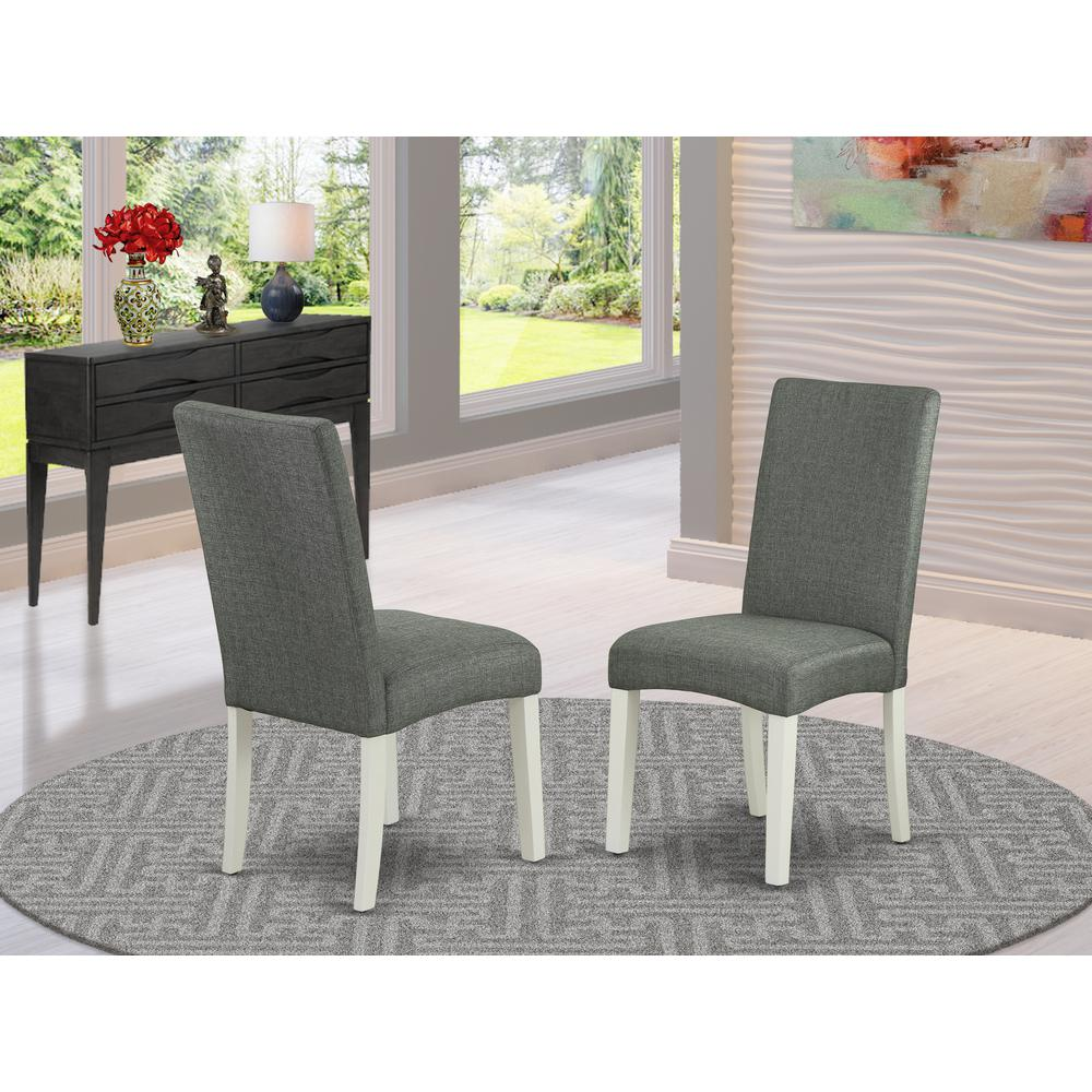Dining Chair Linen White, DRP2T07. Picture 2