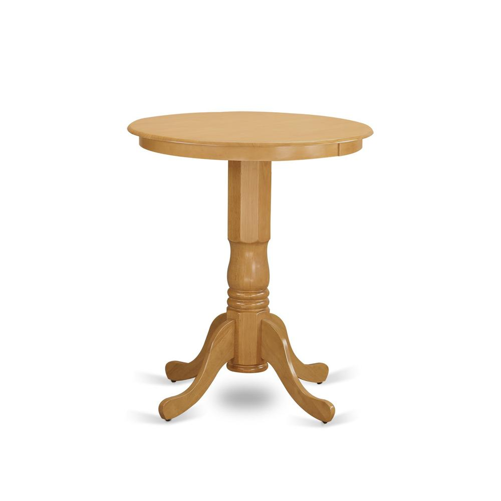 EDPB5-OAK-C 5 PC counter height pub set-pub Table and 4 counter height Chairs. Picture 3