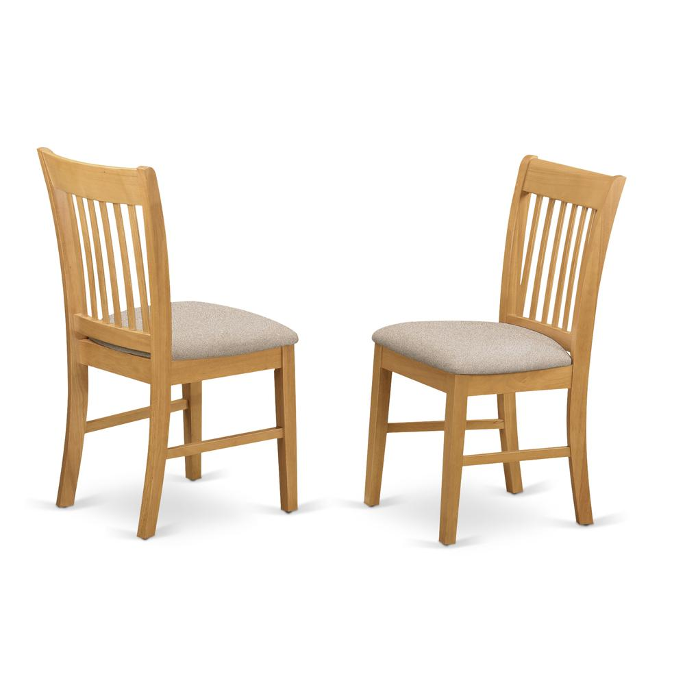 CANO5-OAK-C 5 PC Table set - Dining Table and 4 Dining Chairs. Picture 4