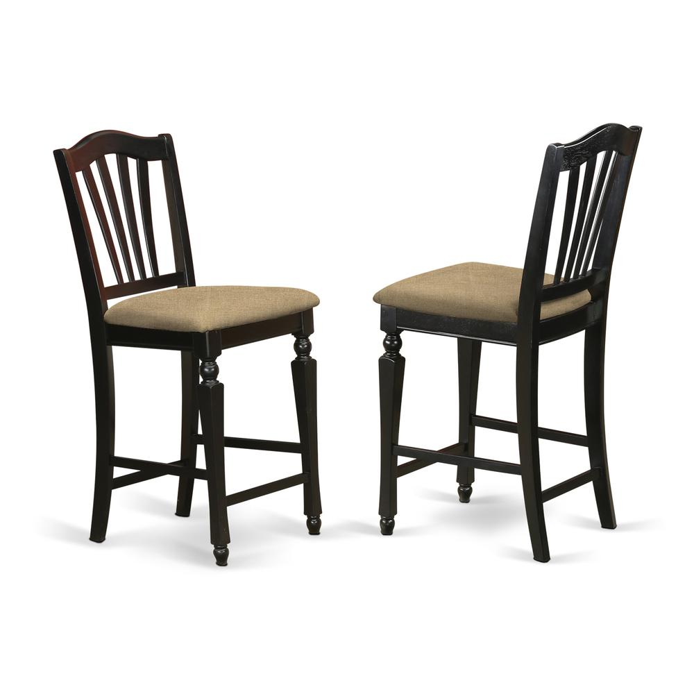 EDCH5-BLK-C 5 Pc counter height set - Kitchen Table and 4 counter height Dining chair.. Picture 4