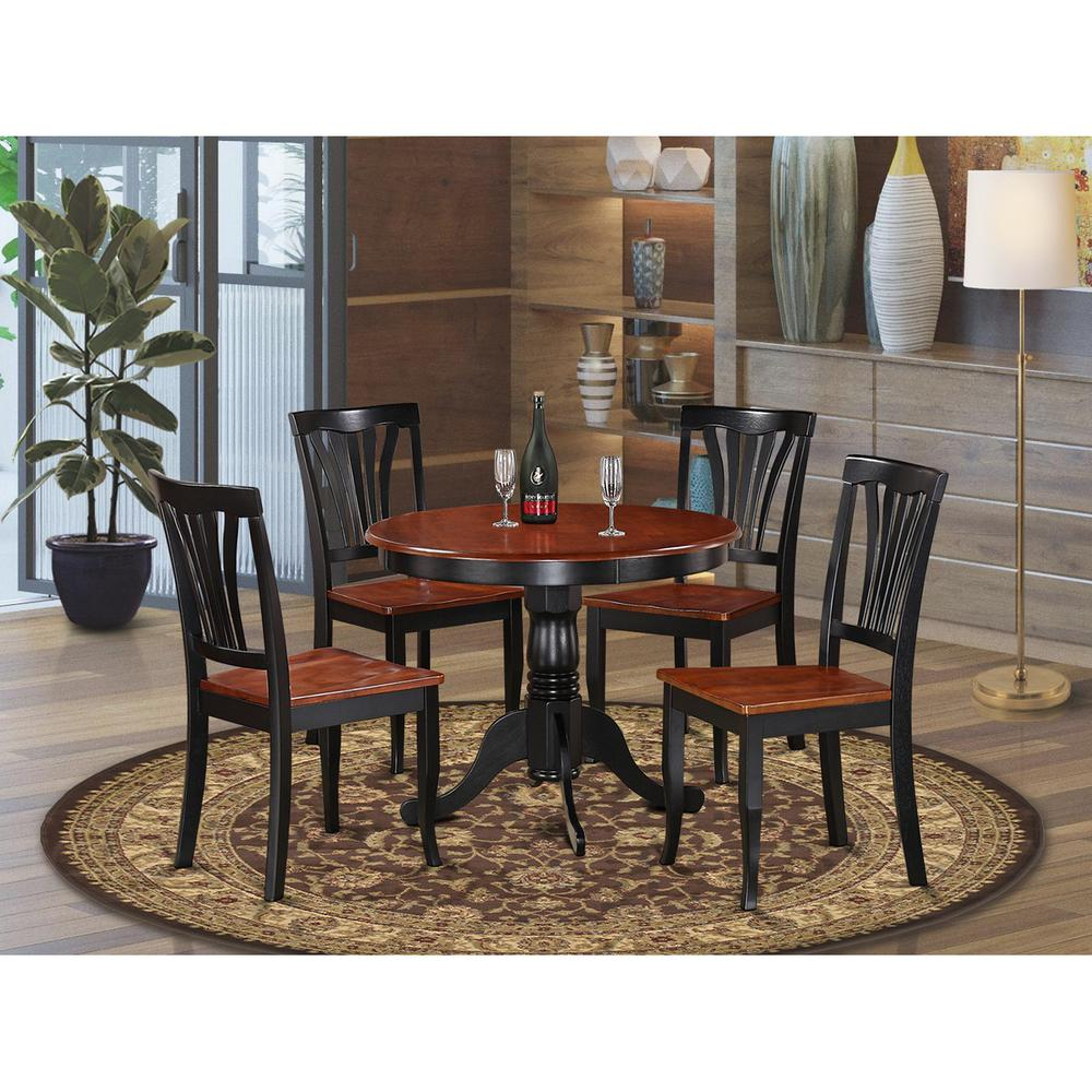 5 PC small Kitchen Table set-small Kitchen Table and 4 Dining Chairs