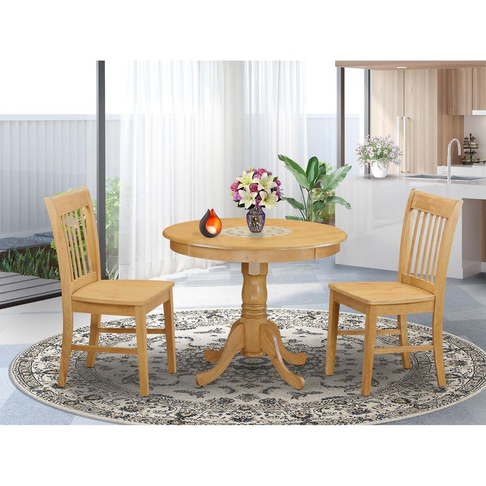 3 Pc Dining room set small Kitchen Table and 2 Dining chair