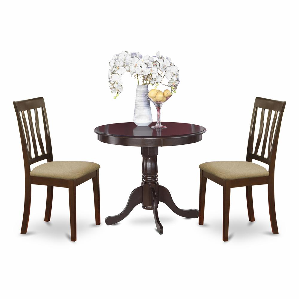 3 PC small Kitchen Table and Chairs set round Table plus 2