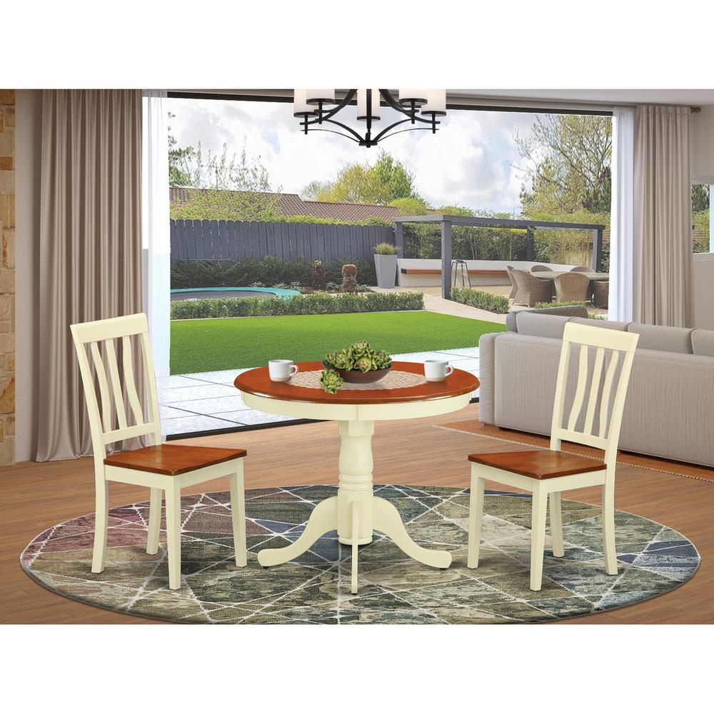 3 Pc Kitchen nook Dining set-Kitchen Table and 2 Chairs for Dining room